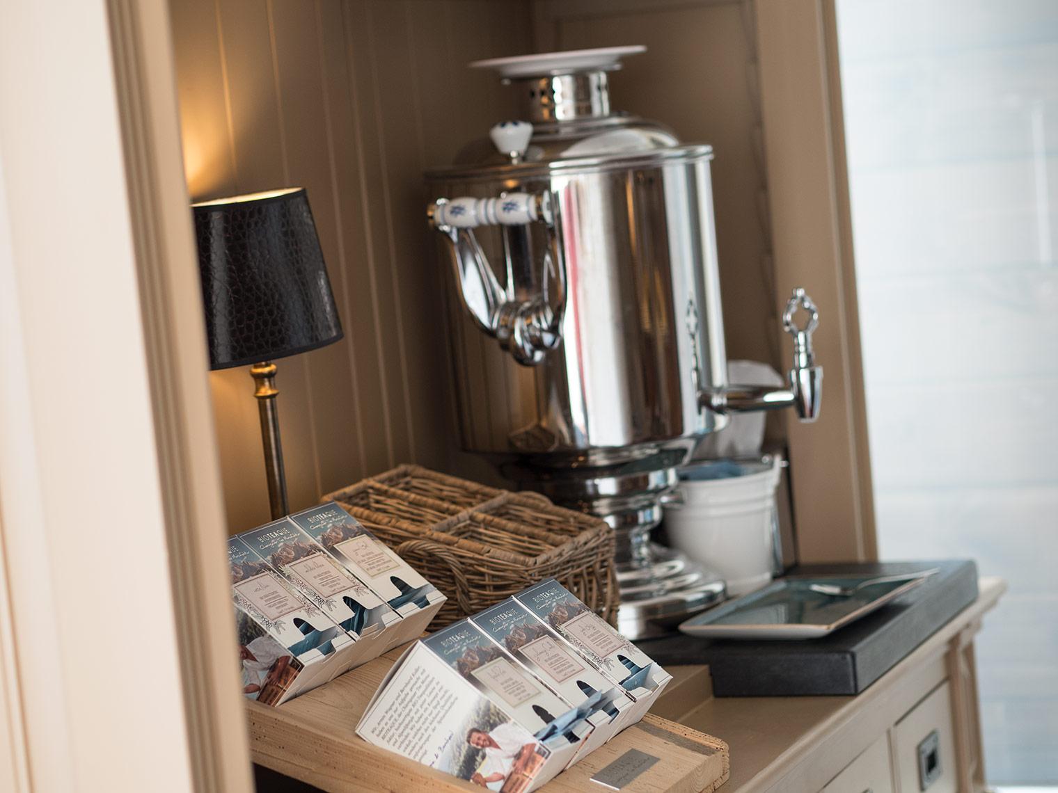 Tea selection at detox Mayr clinic in Austria