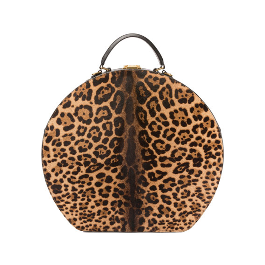 Saint LaurentMica Large Leopard-Print Hat Box Bag