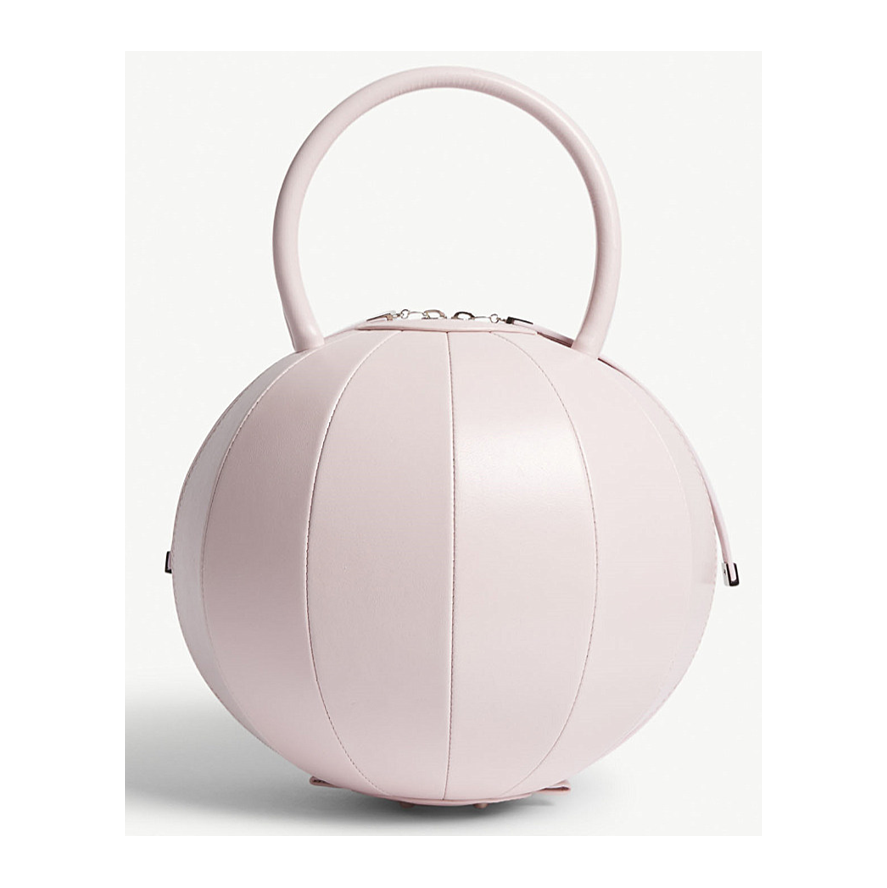 NITA SURI Pilo round leather handbag