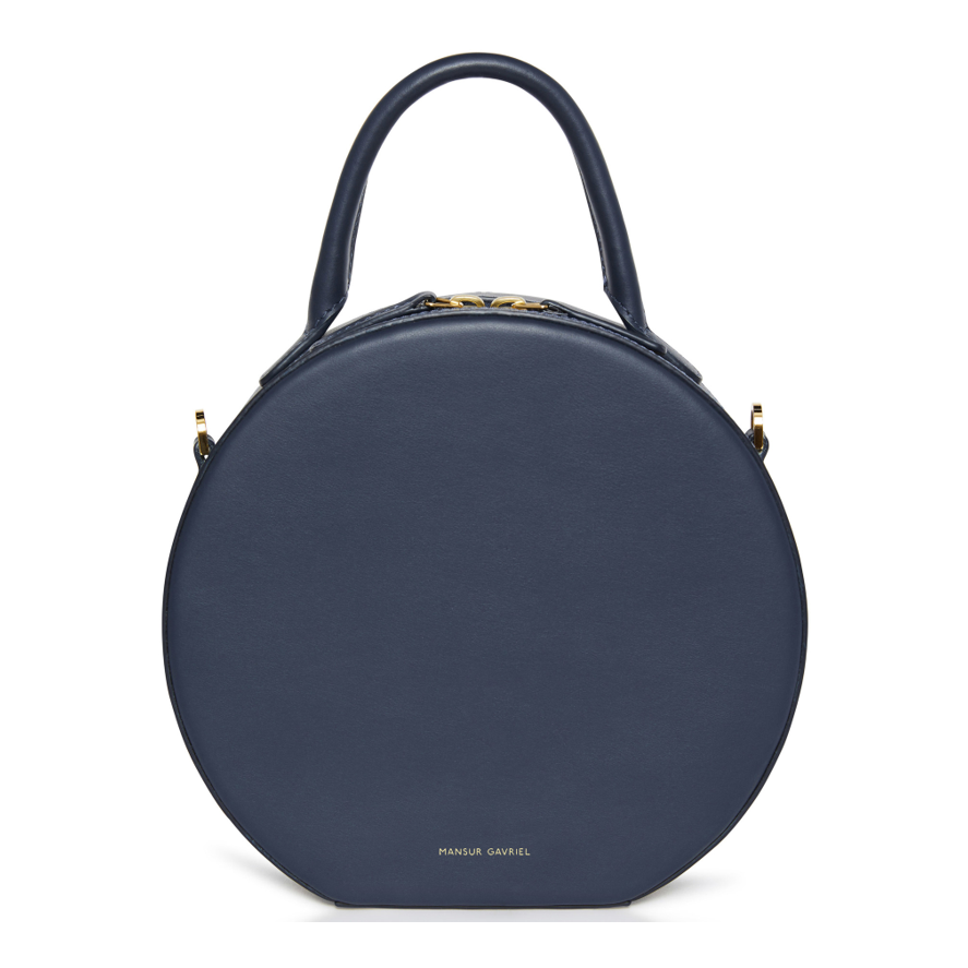 Mansur Gavriel round bag navy blue