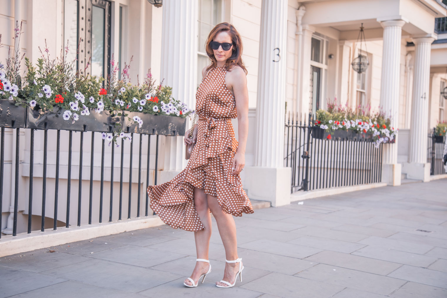 Brown polka dot dress by Forever Unique