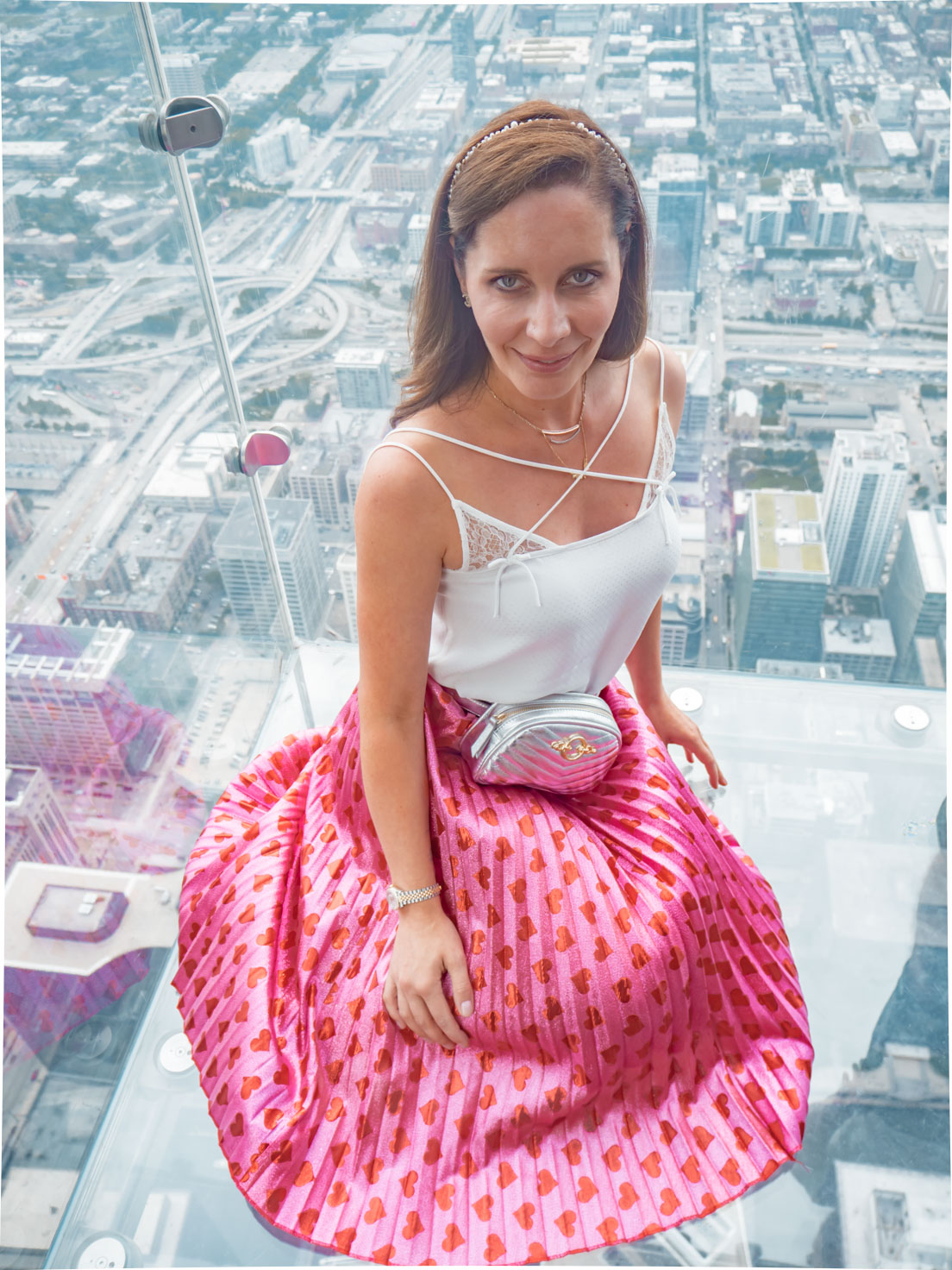 Petra from Chic Journal at Willis Tower Skydeck in Chicago