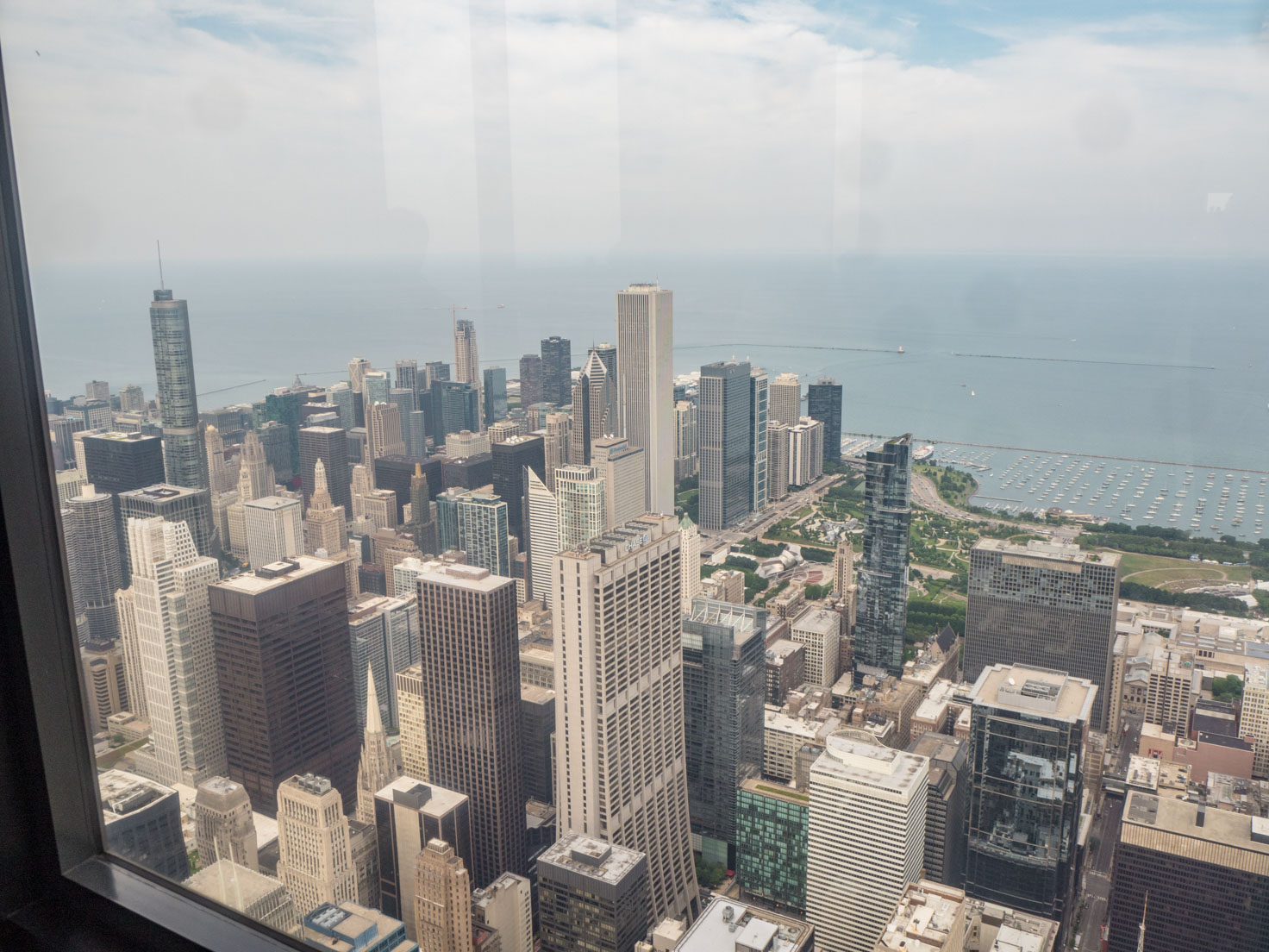 Skydeck at Willis Tower in Chicago view