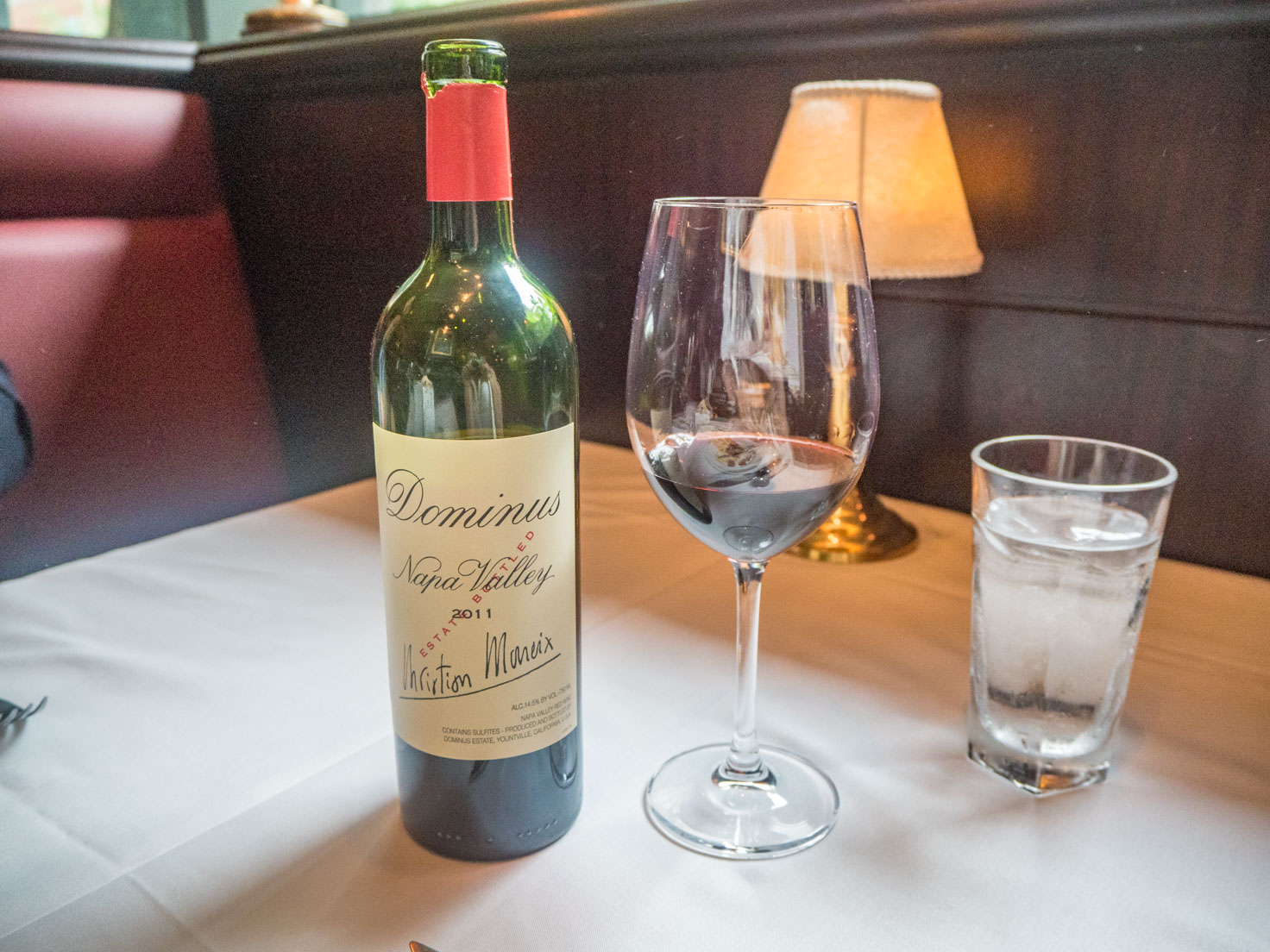 Capital Grille Chicago downtown Napa Valley Dominus red wine