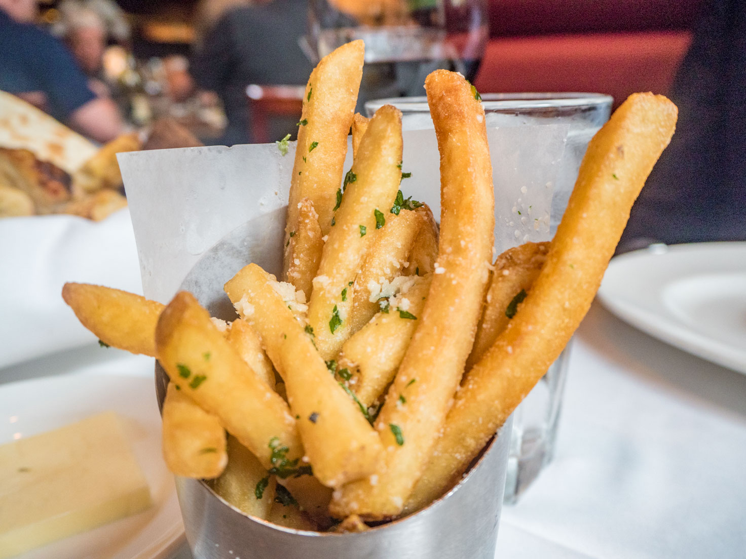 Parmesan and truffle fries at Capital Grille Chicago downtown