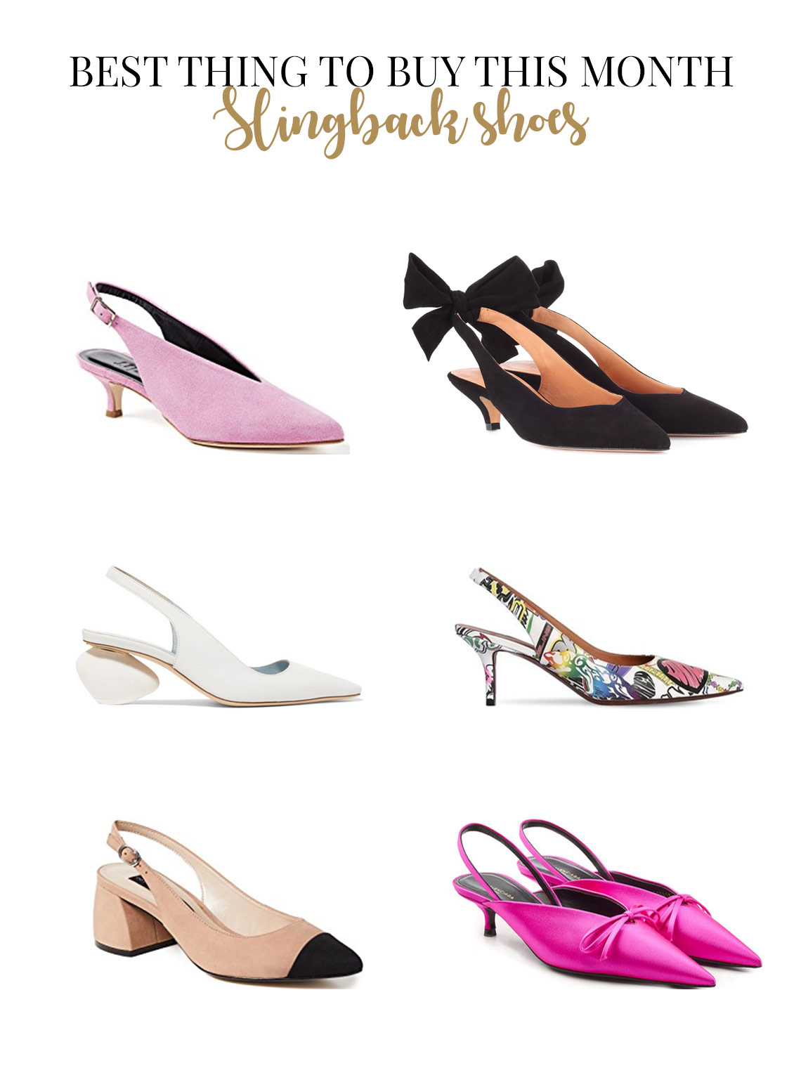 Best slingback pumps to buy this summer
