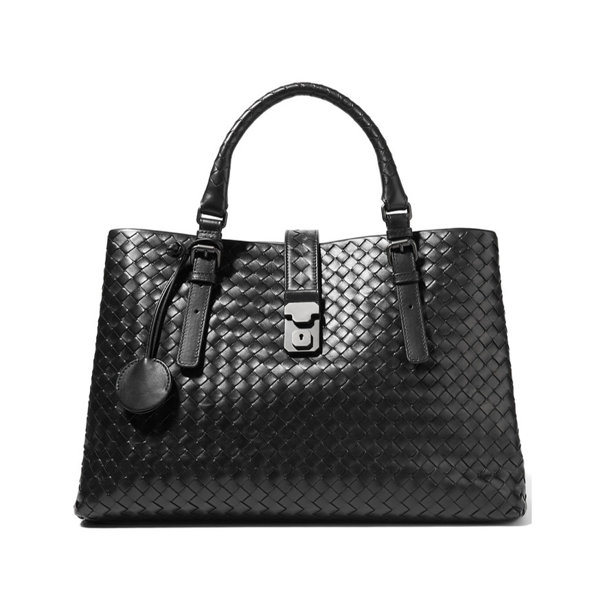 Best work bags Bottega Veneta Roma large intrecciato leather tote