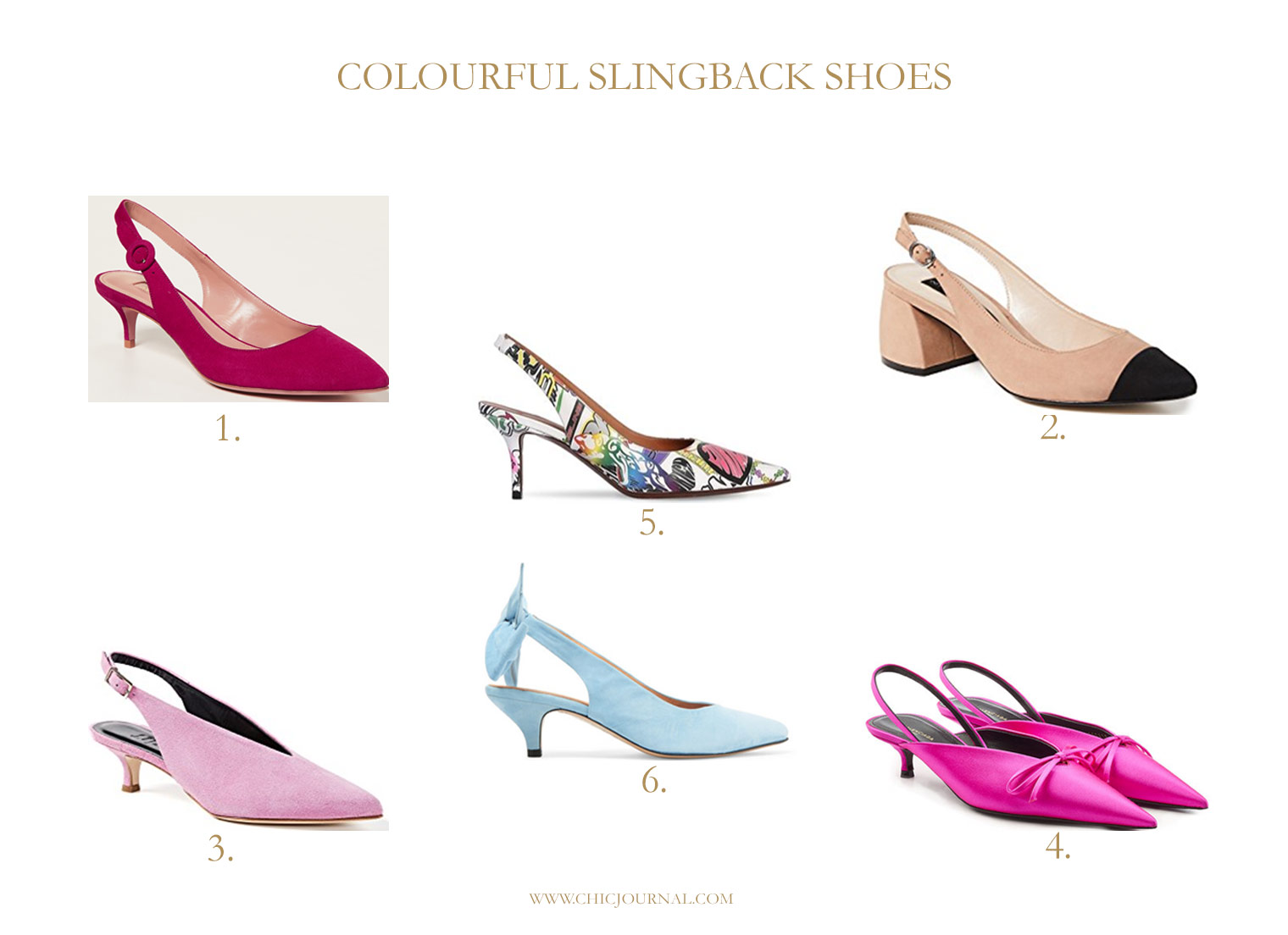 colourful slingback shoes, Balenciaga slingbacks, Vetements slingbacks, Ganni slingback shoes