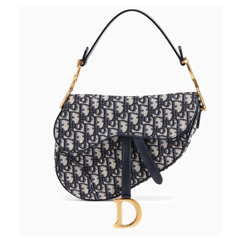 Dior saddle bag in blue canvas