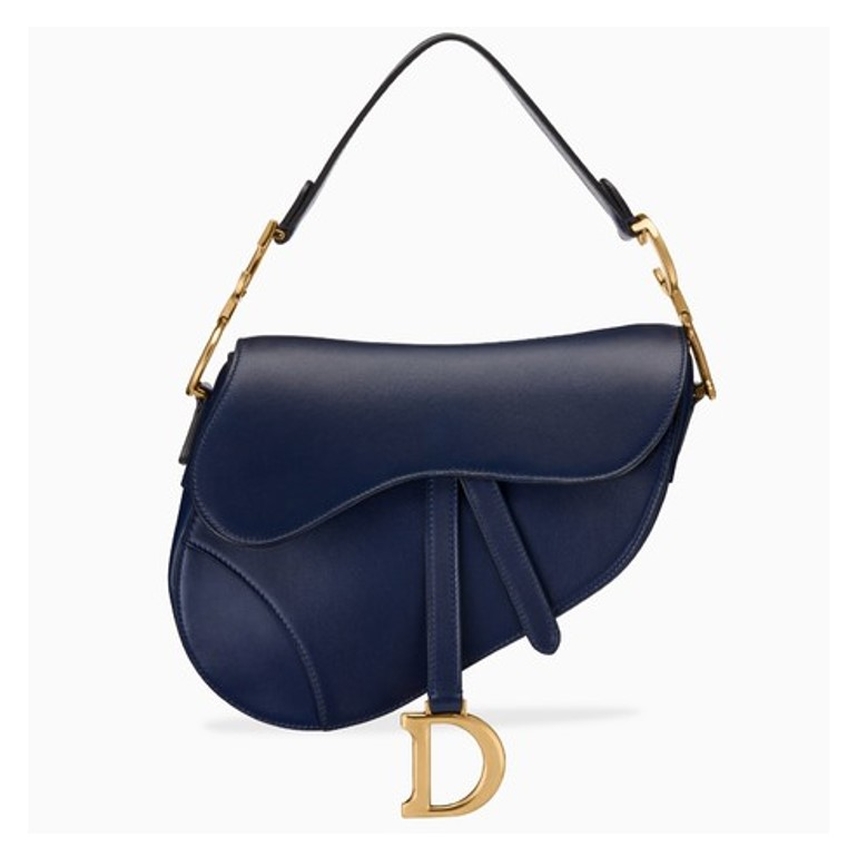 Blue Dior saddle bag