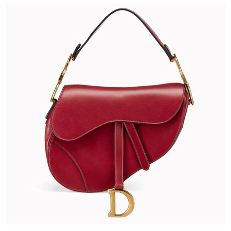 Dior saddle bag in red leather