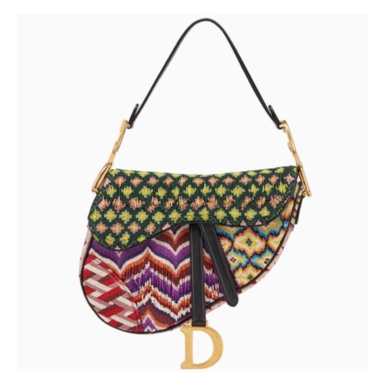 Embroidered Dior saddle bag