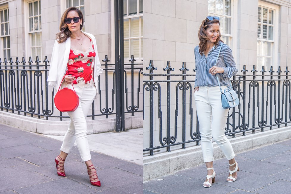 How to wear white trousers day and night