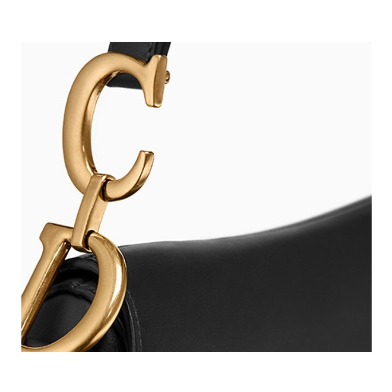 Dior saddle bag gold hardware details