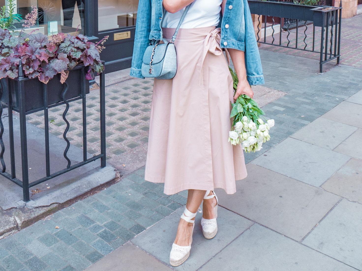 Club Monaco skirt and Louis Vuitton Chain It bag
