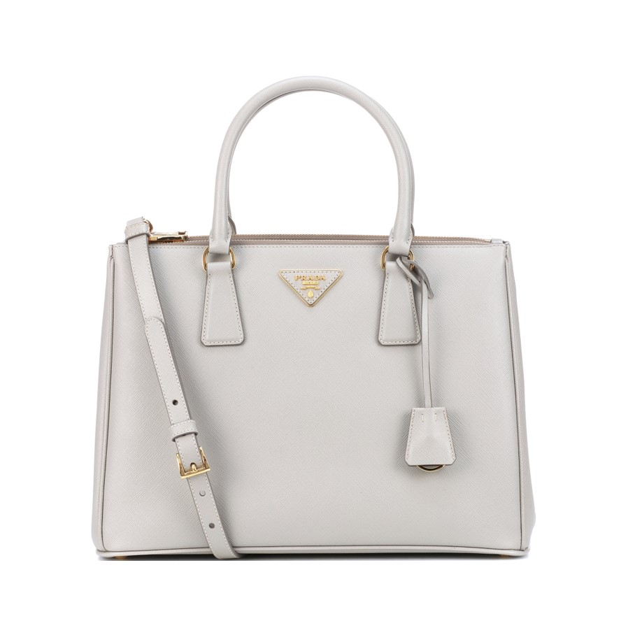 Best work bags Prada Galleria in light grey