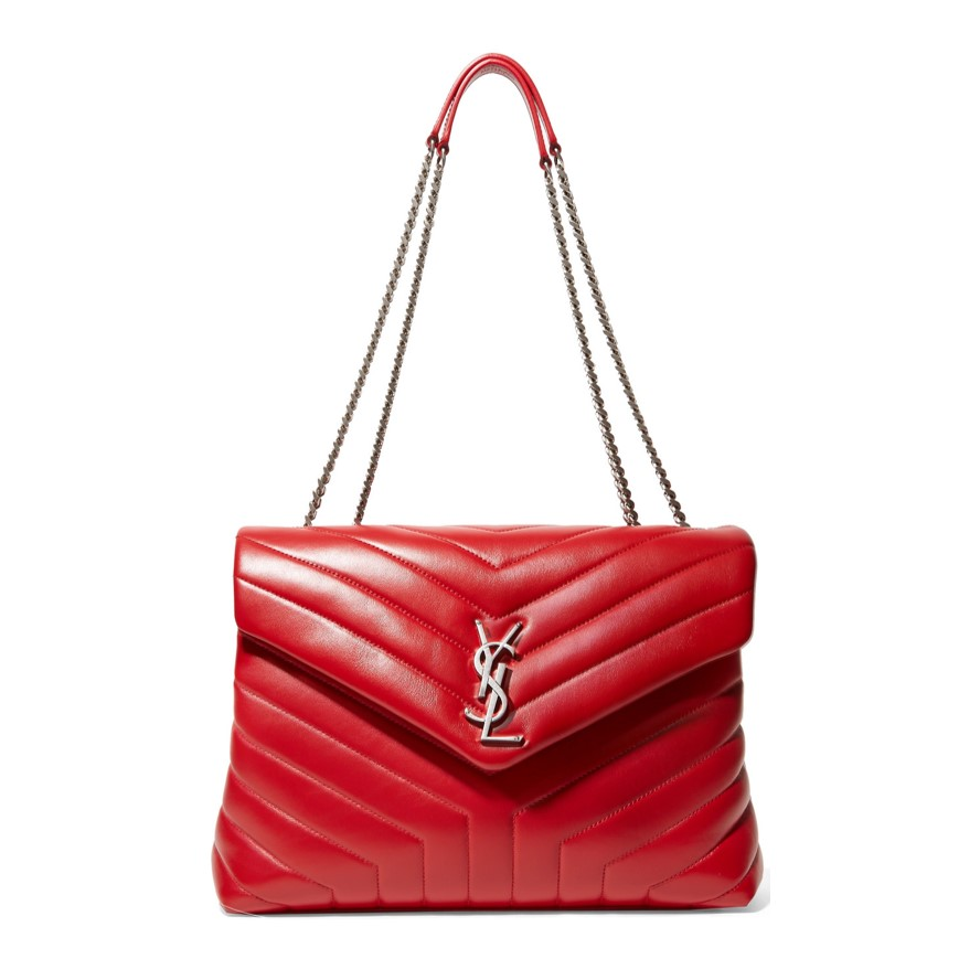 Best work bags Saint Laurent quilted red shoulder bag