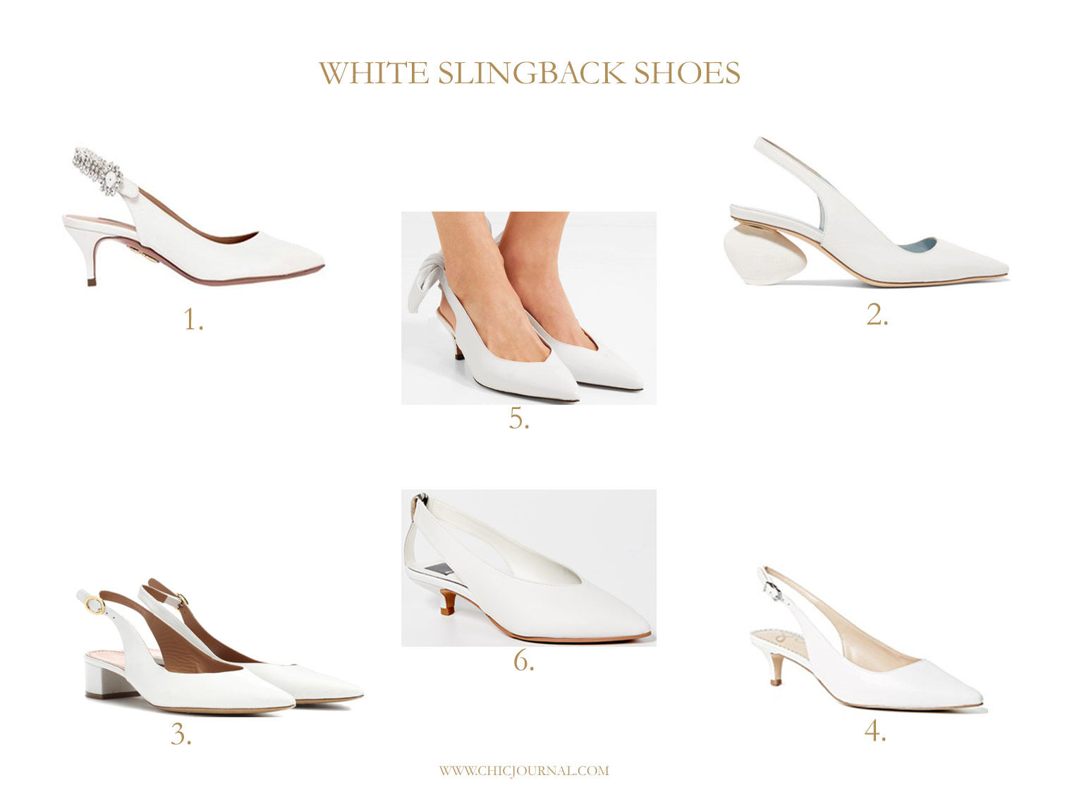 White slingback shoes, Ganni slingbacks