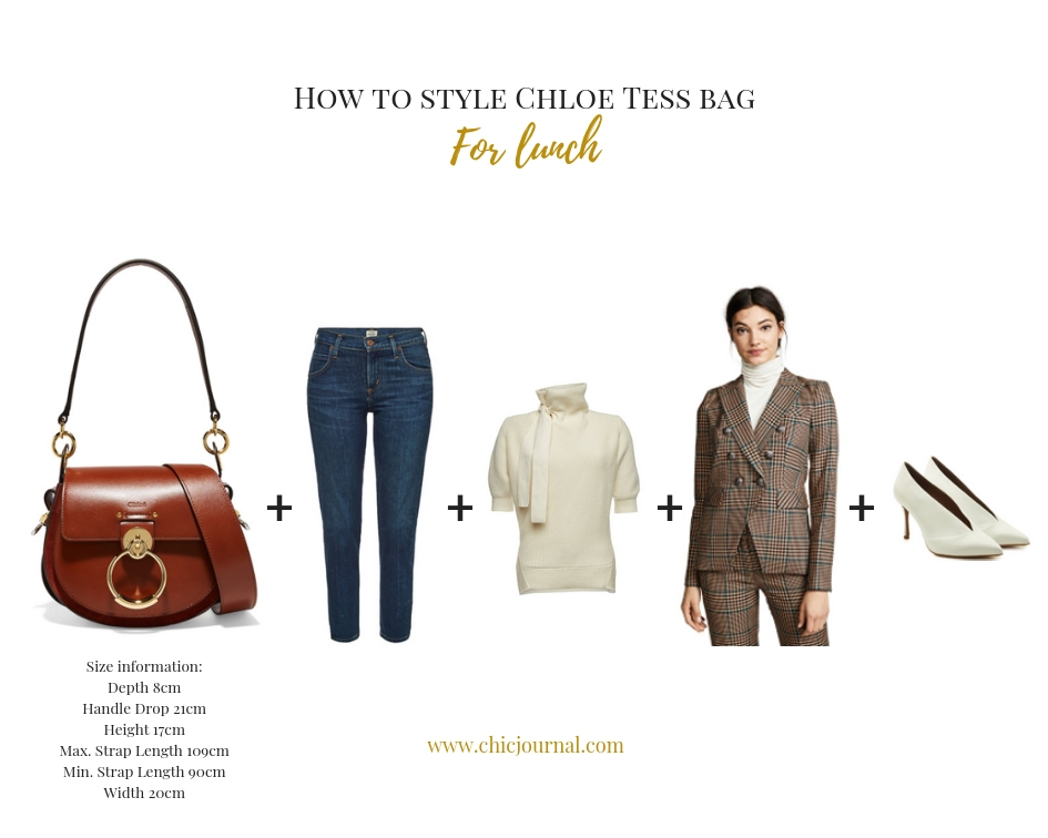 How to style Chloe Tess bag for lunch by Chic Journal
