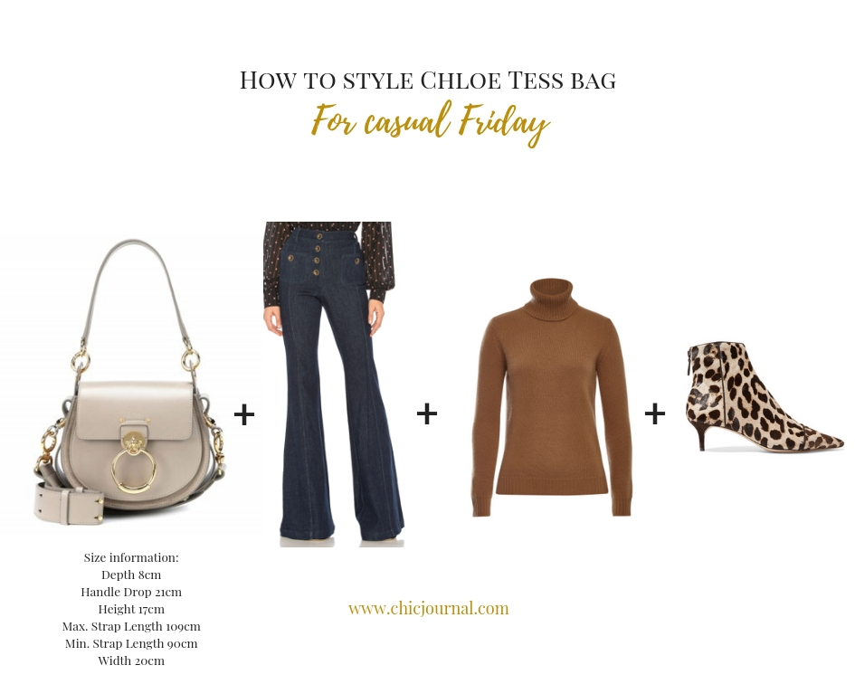 How to wear Chloe Tess bag for casual Friday