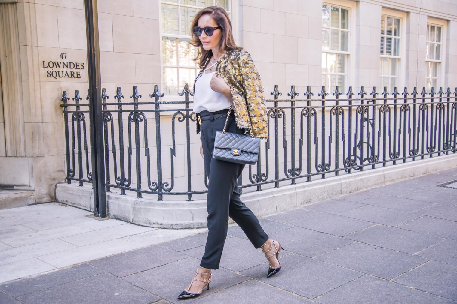 What to wear with paperbag trousers in the night