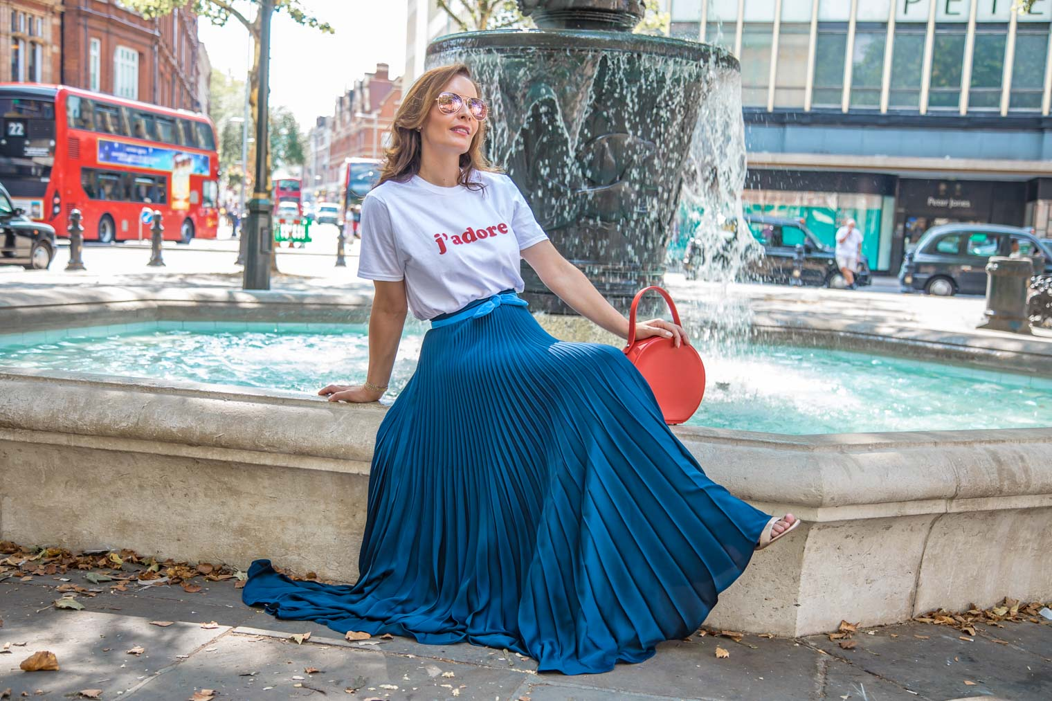 What to wear with pleated maxi skirt everyday