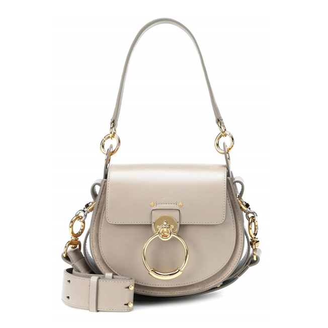 Chloe Tess small leather and suede bag