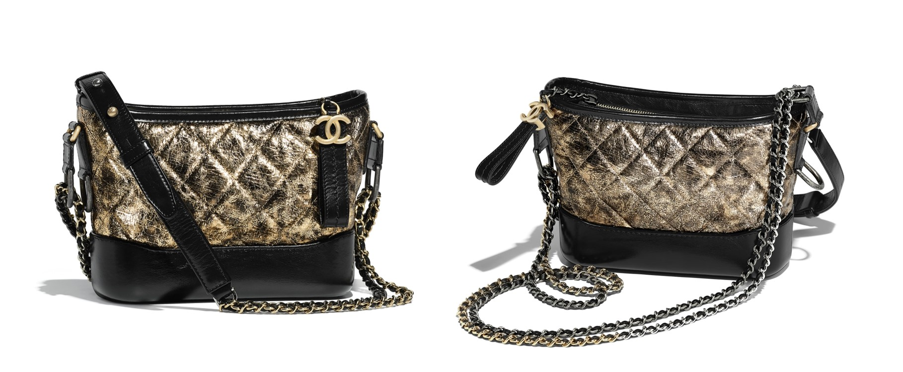 best Chanel bags to buy this season Chanel Gabrielle small hobo bag black and gold