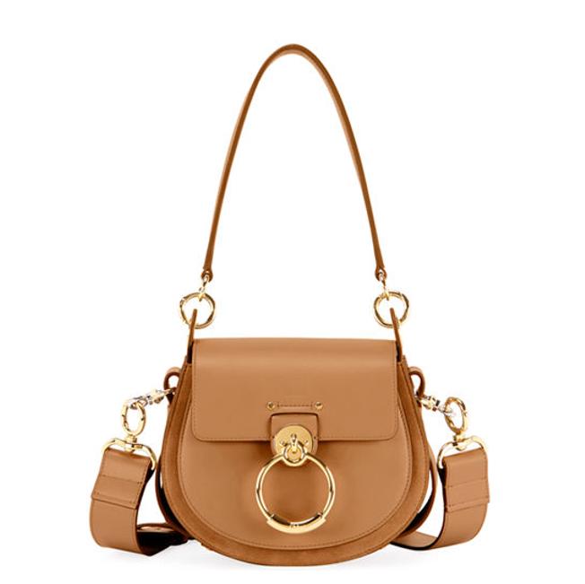 New Chloe Tess large saddle bag in beige