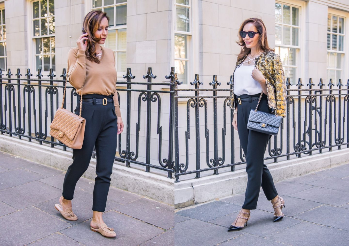 How to wear paperbag waist trousers day to night