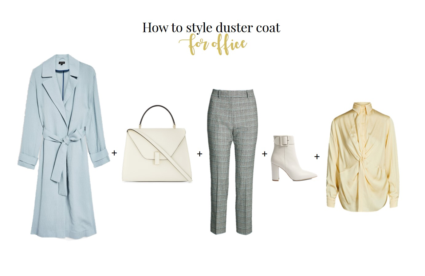 How to wear duster coat for work outfit inspiration for work