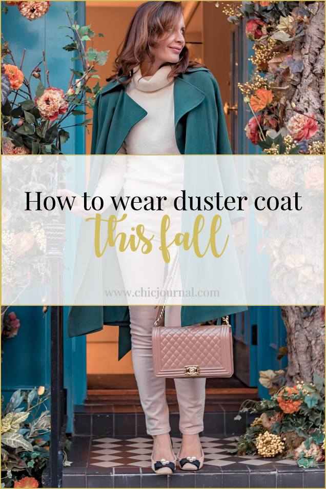 Chic Journal blog on how to wear duster coat this fall