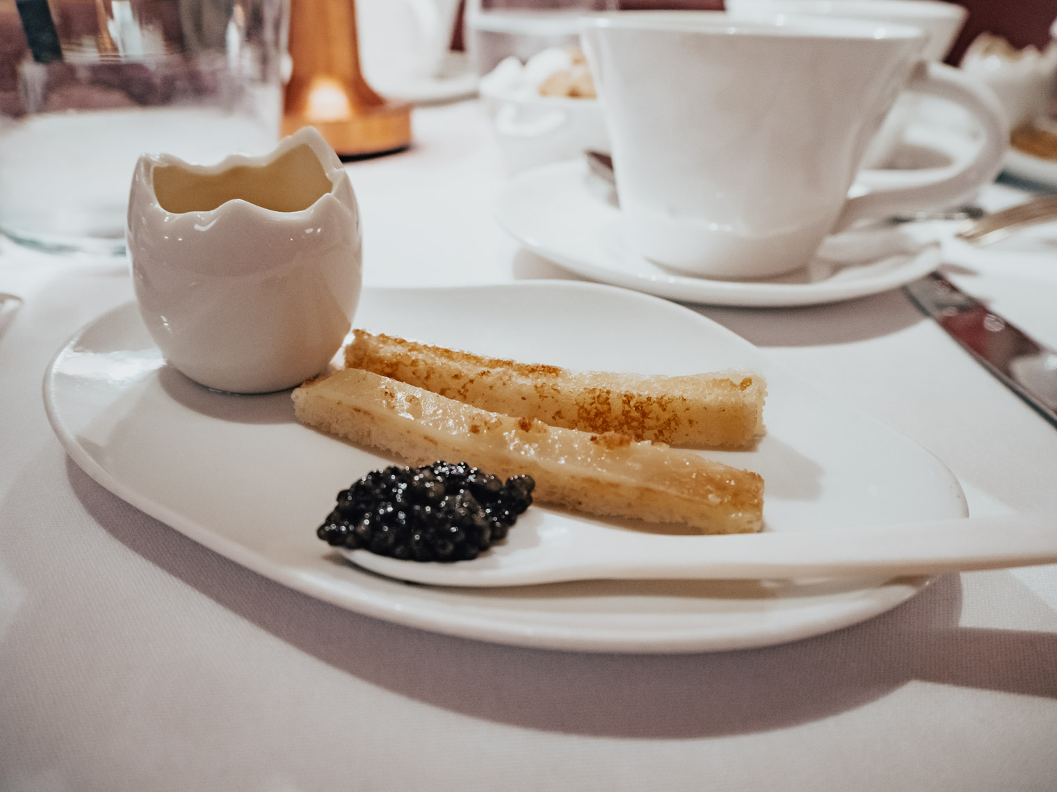 Sketch Gallery London caviar and egg soldiers