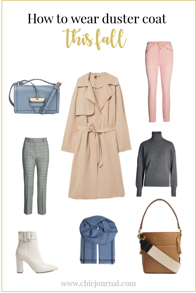 Duster coat outfit inspiration for fall