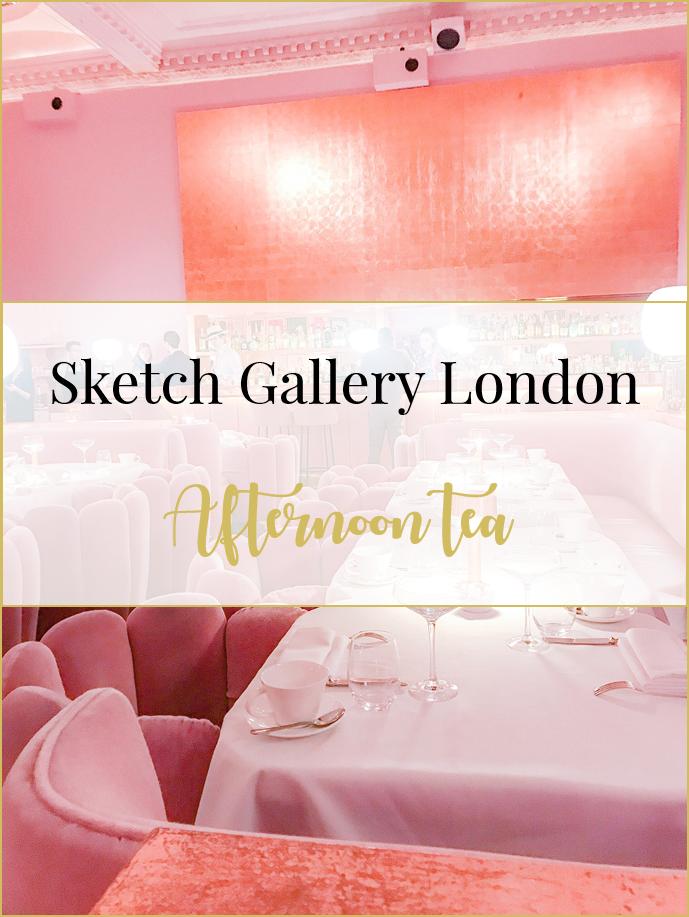 Sketch Gallery pink room afternoon tea