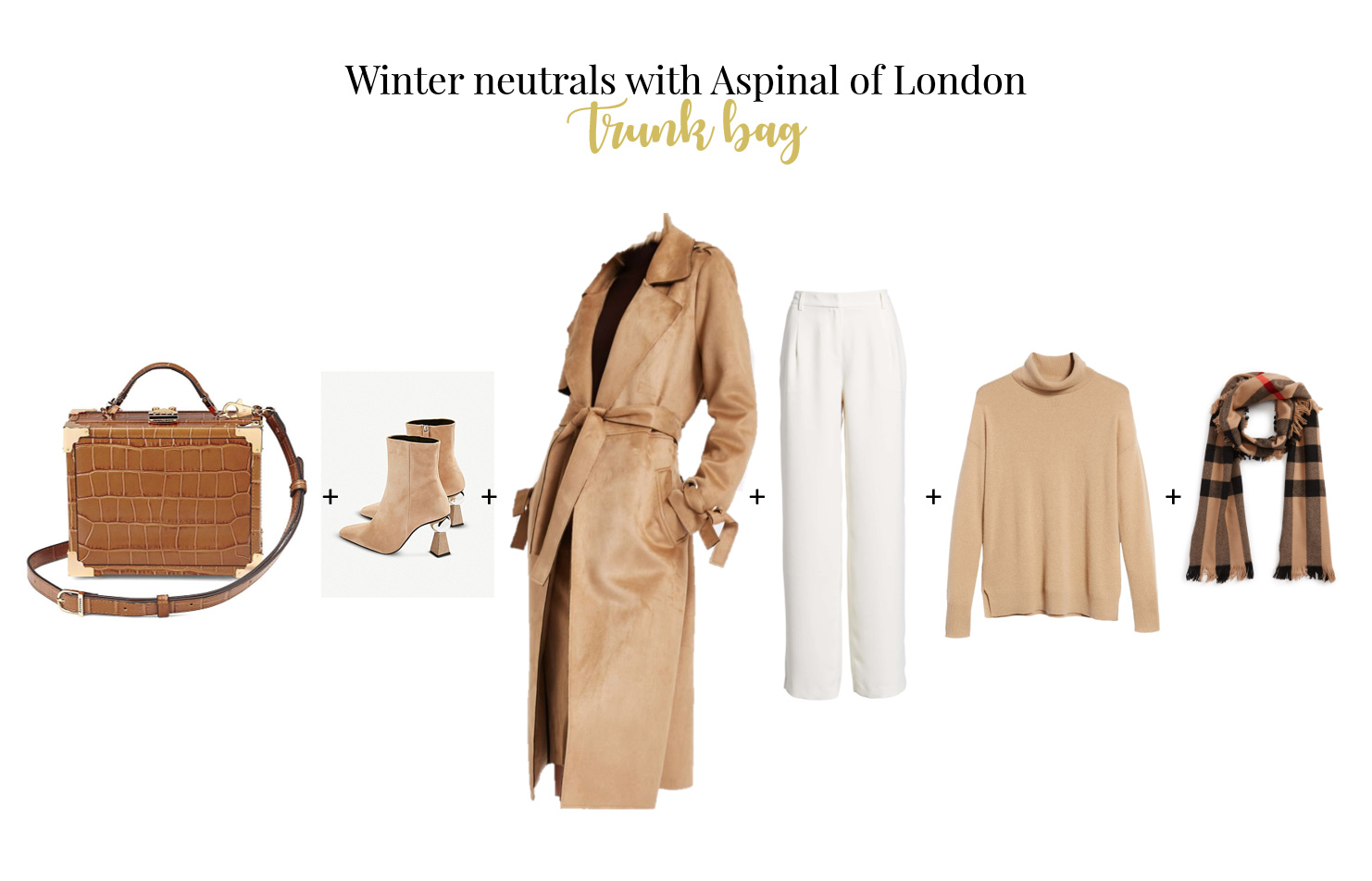 How to wear trunk bag for work Aspinal of London bag faux suede coat