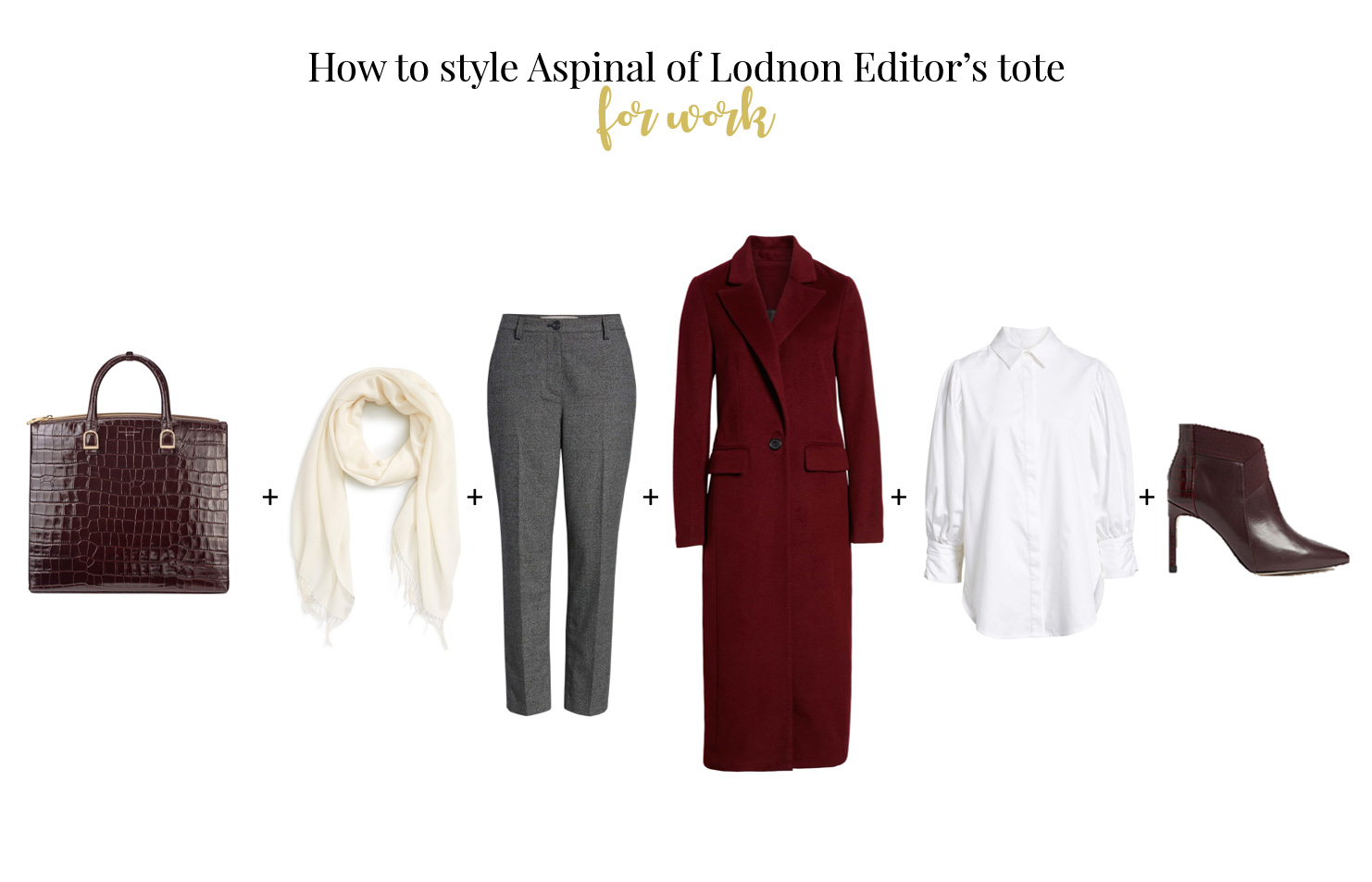 How to wear Aspinal of London Editor's tote bag for work