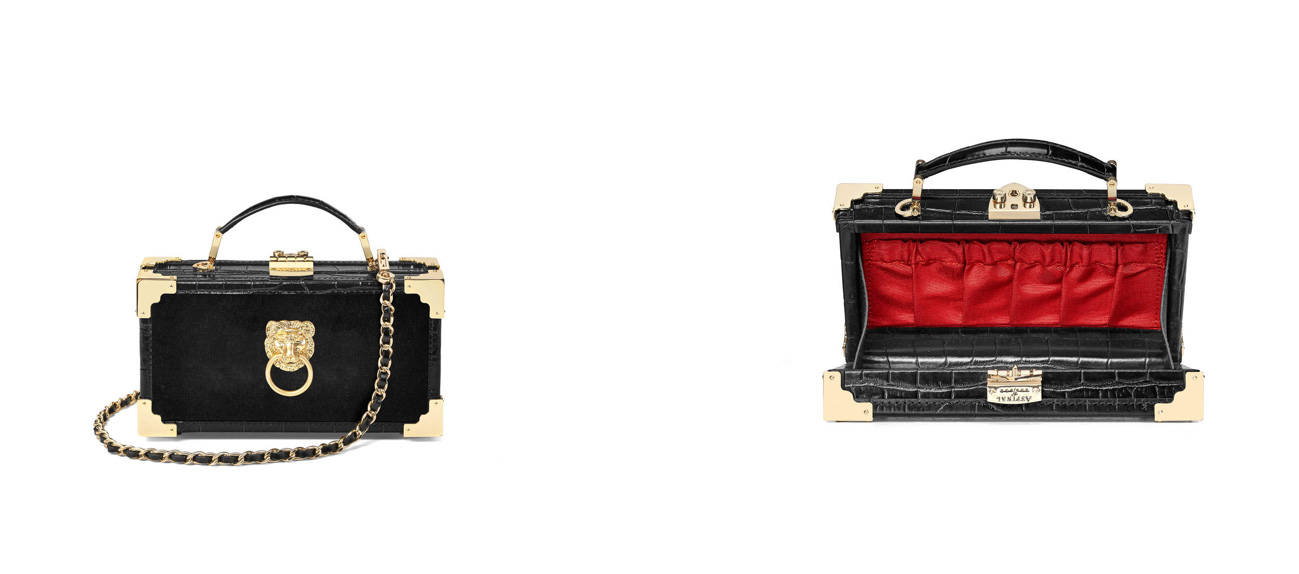 Aspinal of London trunk bag clutch