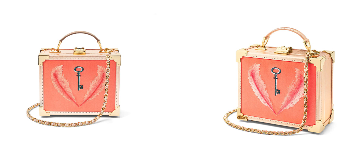 Aspinal of London Giles collection coral trunk bag