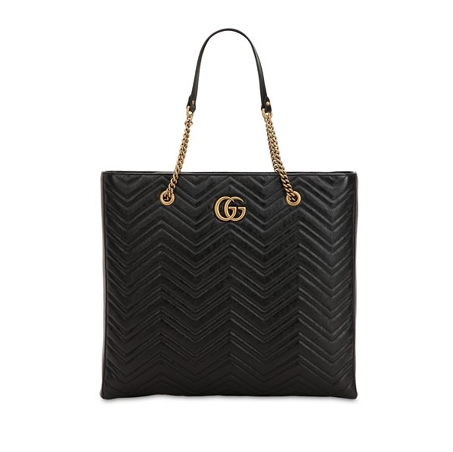 GUCCI GG MARMONT LEATHER TOTE BAG