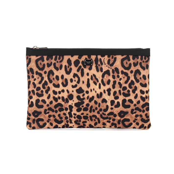 DOLCE & GABBANA Leopard print PARTY BAG
