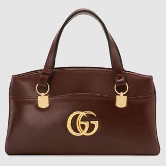 Large Gucci Arli bag burgundy leather