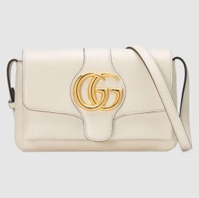 Small Gucci Arli shoulder bag white leather