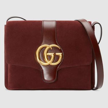 Medium Gucci Arli shoulder bag suede brown