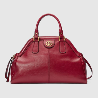 Gucci Rebelle bag large tote red leather
