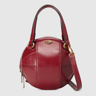 Small Gucci Basketball shaped bag red leather