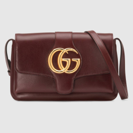 Small Gucci Arli shoulder bag burgundy leather