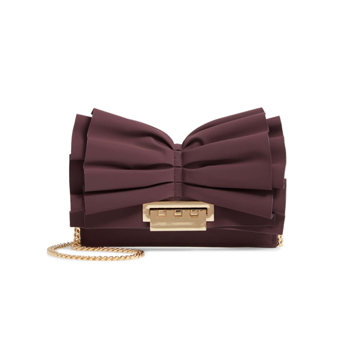 Earthette Bow Leather Crossbody Bag ZAC ZAC POSEN