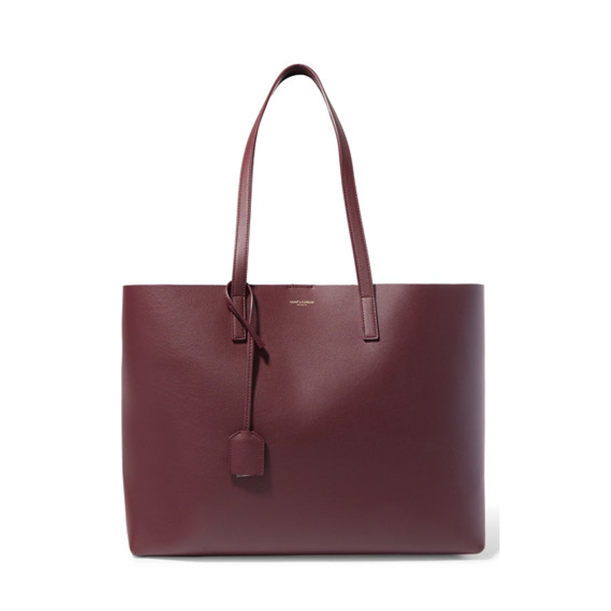 Saint Laurent burgundy tote bag