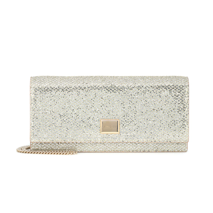 JIMMY CHOO Lilia glitter clutch PARTY BAGS